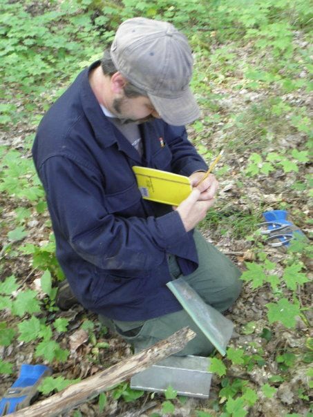 Michael Cramer, Assistant Director for UNDERC-East, monitors small mammal populations at UNDERC